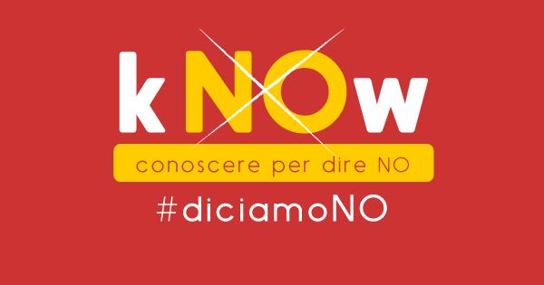 """Banner della campagna sul referendum confermativo sulla riforma costituzionale di UDU - Unione degli Universiari e Rete degli Studenti Medi denominata """"kNOW - conoscere per dire NO"""""""