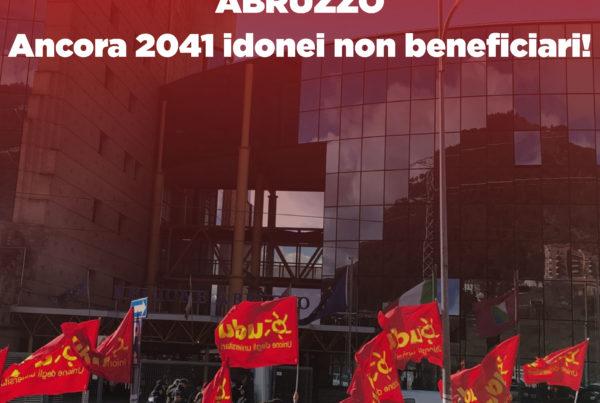 Abruzzo 2018 - idonei non beneficiari sit-in sotto la Regione